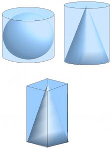 Sphere cone pyramid
